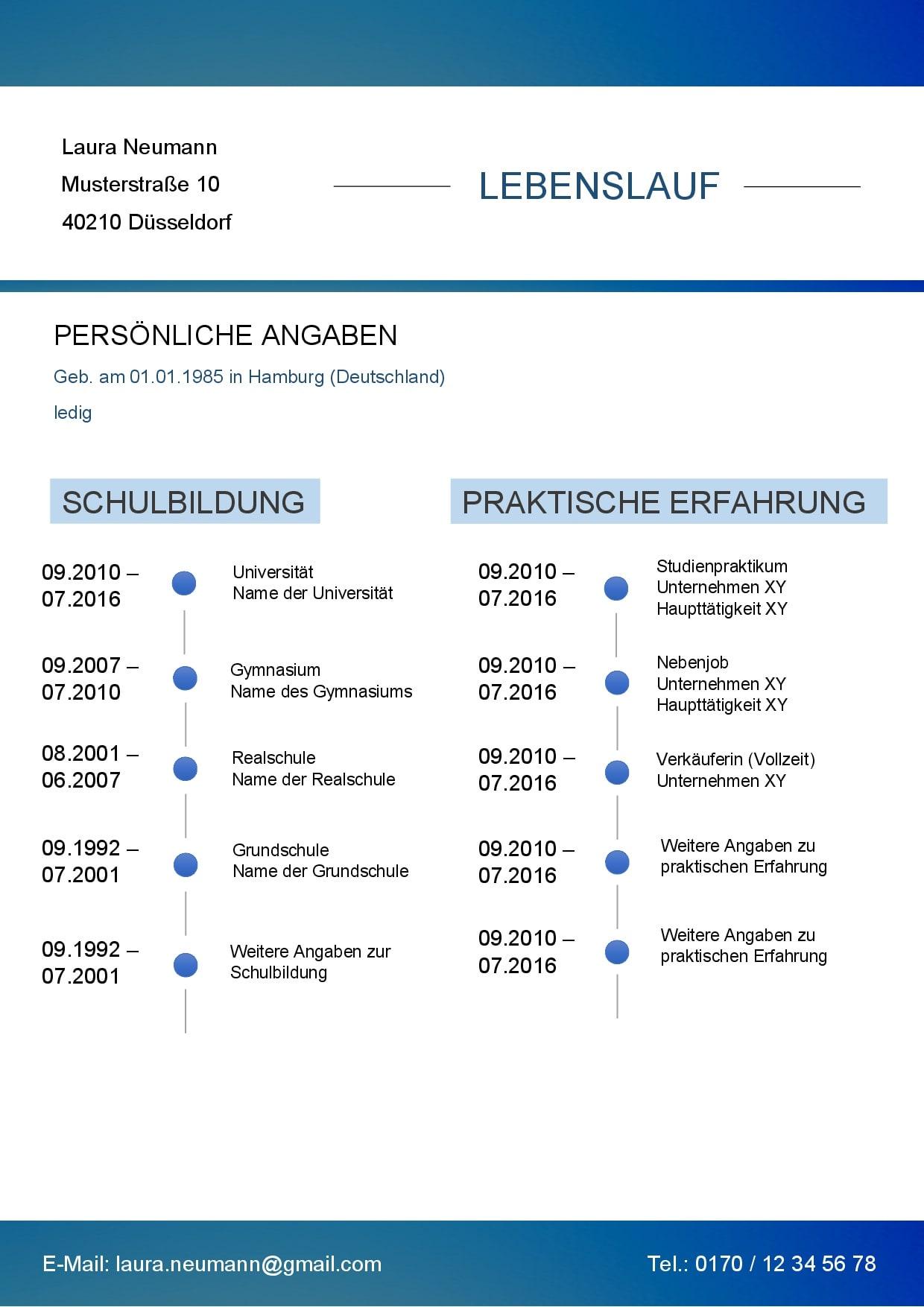 lebenslauf blue-line 1